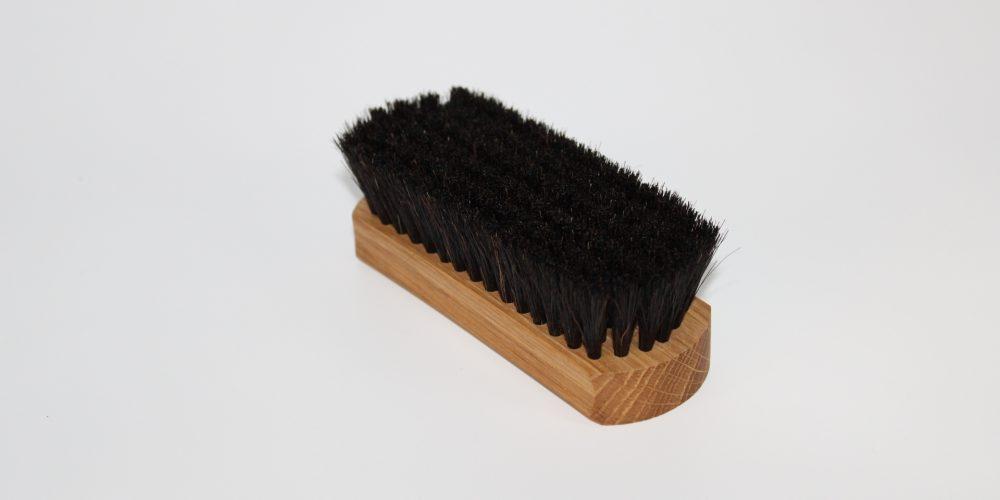 brosse à  reluire 12 cm chêne brosse à chaussure